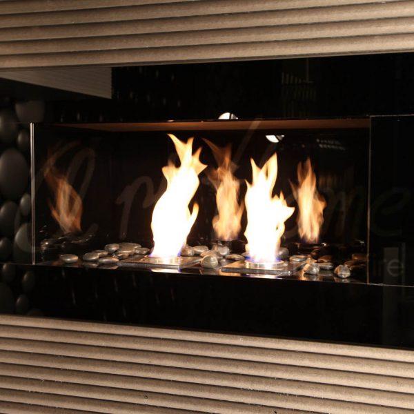 Встроенный биокамин GlassWall, Art Flame
