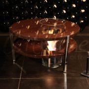 Кофейный столик с встроенным биокамином
