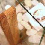 Островной биокамин Quadro Art Flame из дуба (100% массив)