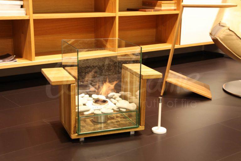 Островной биокамин Crystal Art Flame из дуба (100% массив)